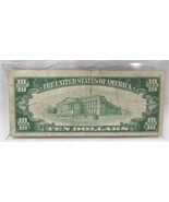 1929 $10 National Bank Note Greencastle, IN Low Serial # Fine PC-598 - $178.92