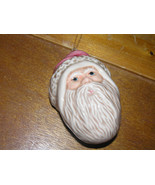 Vintage SYVESTRI Hollow Ceramic SANTA CLAUS Head Christmas Tree Ornament... - $8.59