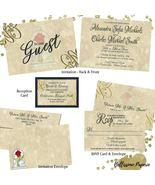 Beauty and the Beast Wedding invitation Set: RSVP Reception Envelope Nav... - $2.64