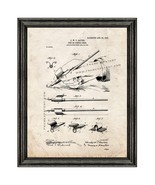 Pen or Pencil Grip Patent Print Old Look with Black Wood Frame - $24.95+
