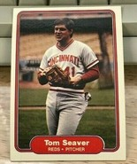 1982 Fleer Baseball Card #82 TOM SEAVER  Reds  - $1.49