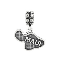 Sterling Silver Dangle Island Of Maui Bead Charm - $22.99