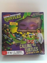 Teenage Mutant Ninja Turtles Calling All Turtles Board Game Battle Sealed 4 Mask - $29.69