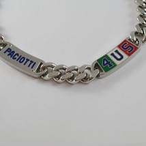 STAINLESS STEEL BIG GOURMETTE 4US PACIOTTI NECKLACE ENAMEL ITALIAN FLAG 4UCL0123 image 2
