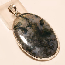 Natural Moss Agate Gemstone 925 Sterling Silver Fashion Jewelry Pendant ... - $19.53