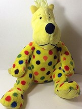 "Dr Seuss Yellow Spotted Dog Plush 14"" Put Me in the Zoo Kohls Cares Disp... - $11.87"