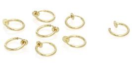 Stainless Steel Small 4 pair Endless Hoop Earrings, Non-piercing , Carti... - $19.43 CAD