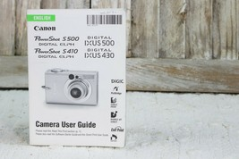 Instruction Manual User Guide for Canon Powershot S500 S410 Digital Camera - $12.99