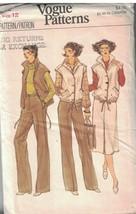 7012 sin Cortar Vintage Vogue Patrón de Costura Misses Chaleco Falda Pan... - $5.58