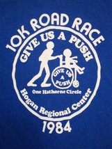 Vintage Wheelchair Marathon 10K Road Race Give Us A Push 1984 80's T Shi... - $12.86