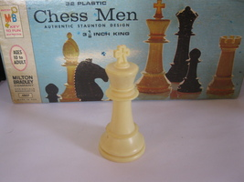 1969 Chess Men Board Game Piece: Authentic Stauton Design - White King - $1.00
