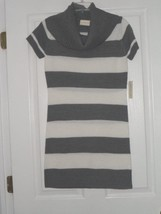 Bobbie Brooks Sweater Dress Size S - L Gray / White Nwt - $19.99
