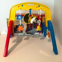 Vintage Fisher Price Activity Links Baby Play Gym Toy 1991 Cow Moon Comp... - $34.99