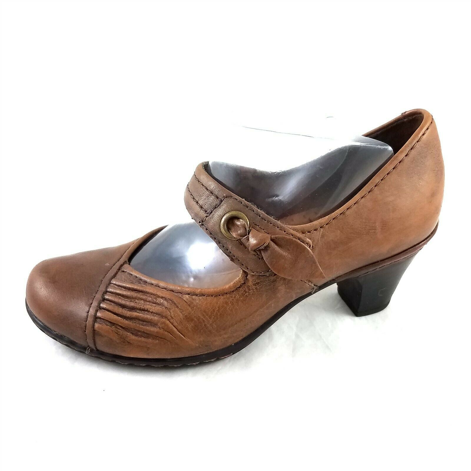 Primary image for Cobb Hill by New Balance Brown Leather Mary Janes Pumps Heels Womens 6 M