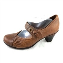 Cobb Hill by New Balance Brown Leather Mary Janes Pumps Heels Womens 6 M - $29.51