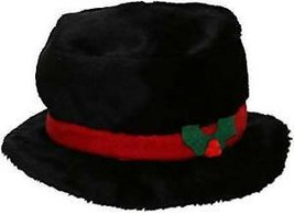 "10"" Black and Red Snowman Unisex Adult Christmas Hat with Holly Berries ... - $14.99"