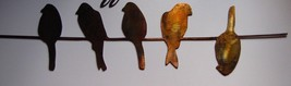 "Birds on a wire  Metal Wall Decor 30"" - $24.99"
