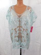 Xhilaration Women's Mint Green Floral Swim Cover Up Size: S/M - NWT