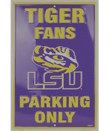"""LSU Tiger Fans Parking Only Aluminum Wall / Man-cave Sign 12""""X18"""" - $19.15"""