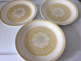 """Franciscan Pottery Hacienda Gold Lunch Plates 8"""" plates set of 3 made in... - $33.66"""