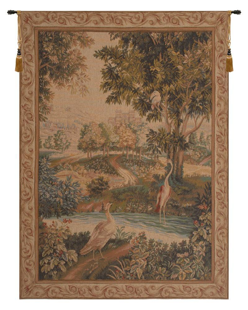 Verdure Aux Oiseaux I European Tapestry Wall Hanging