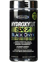 MuscleTech Hydroxycut SX-7 Black Onyx, Extreme Energy and Hardcore Weigh... - $36.09