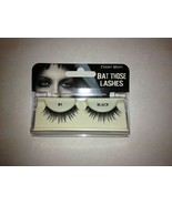 "Fright Night ""Bat Those Lashes"" Black 81 Re-Usable Falsies with Adhesive... - $3.99"