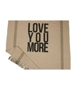 "LOVE YOU MORE 50"" x 60"" Throw Blanket Perfect Gift for Valentine's NEW I... - $49.50"