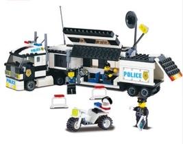 Police Truck Building Blocks Sets playmobil Educational DIY For Children... - $55.49