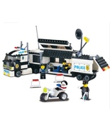 Police Truck Building Blocks Sets playmobil Educational DIY For Children... - $55.49