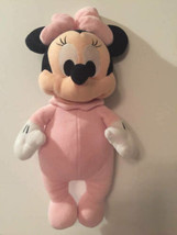 "Disney Parks Minnie Mouse Authentic Baby Mini Plush Babies Pink 12"" Stuf... - $12.86"