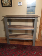 Handmade solid wood entry table, sofa table, farmhouse furniture, 3 tier... - $549.00