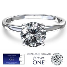 0.50 (5mm) Carat Moissanite Forever One Solitaire Ring (Charles & Colvard) - $249.00