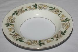 "2 Soup Bowls 8 1/8"" Floral Vine Noritake 5020 Morimura Bros Gold Trim Rimmed - $9.85"