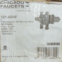 Chicago Faucets Thermostatic AB Mixing Valve Product Number 131 ABNF image 7