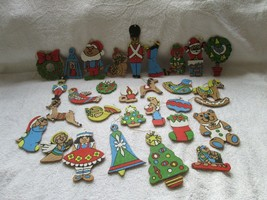 Balsa, Balsa wood estate find Christmas ornaments, hand painted possibly... - $45.00