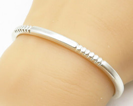 MEXICO 925 Sterling Silver - Petite Etched Detail Shiny Cuff Bracelet - ... - $59.19