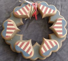 Beautiful Hand Crafted Forth of July Themed Wooden Decorative Wreath - GDC - $34.64