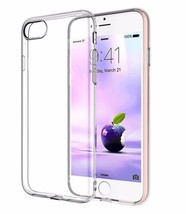 iPhone 8 Shamos® [Crystal Transparent] iPhone 7 Slim Clear Bumper Rubber... - $5.67