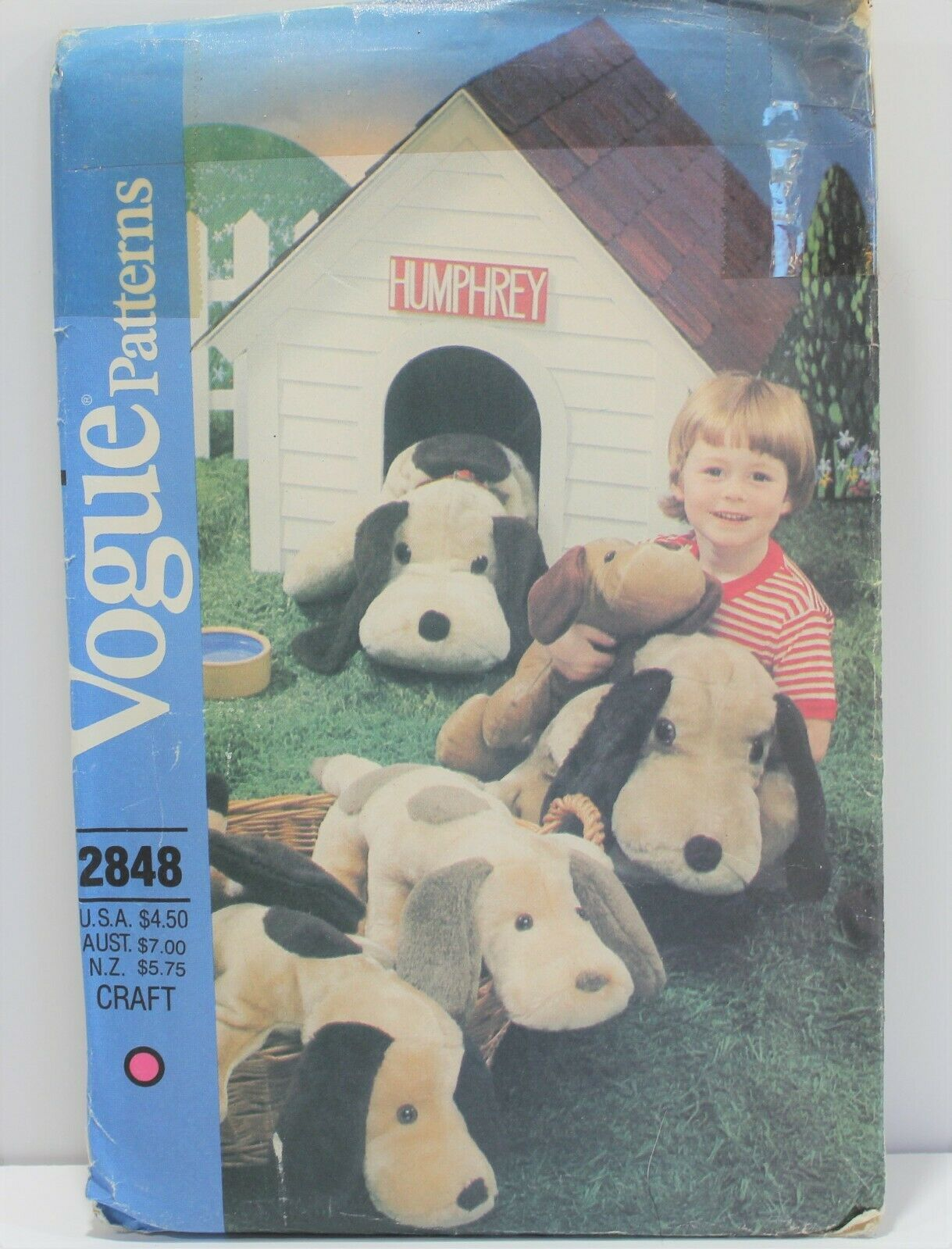 Primary image for Vogue Sewing Pattern 2848 Stuffed Dogs Long Eared Vintage
