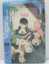 Vogue Sewing Pattern 2848 Stuffed Dogs Long Eared Vintage - $14.49