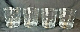 """PASABAHCE Clear Circles Bubble Optic Old Fashioned Tumblers 3 7/8"""" Set ... - $17.77"""