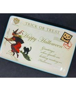 2011 Hobby Lobby Happy Halloween Witch Greetings Serving Platter Food Safe - $9.41