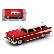 1957 Chevrolet Nomad Red 1/43 Diecast Model Car by Road Signature 94203r - $19.14