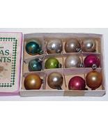 "Vintage 3/4"" Mini Glass Christmas Ornaments IOB #18 - $12.99"