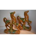 Antique Ceramic Prancing Horses - $75.00