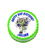 Buzz Lightyear Toy Story Round Edible Cake Image Topper - $7.80