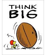 "Woodstock Snoopy Peanuts ""THINK BIG"" Stand-Up Display - Football Sports ... - $15.99"
