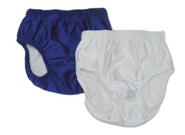 My Pool Pal Big Kids 2 Pack Swim Brief/Diaper Cover, X-Small, Navy/White - $43.18