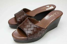 Cole Haan 8 Brown Wedge Sandals - $48.00
